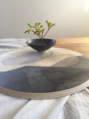 Birch Ply Table Platter - Charcoal