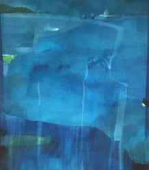 Stefan Gevers original framed artwork - Blue Night