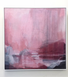 Stefan Gevers original framed artwork - Pink Storm SOLD