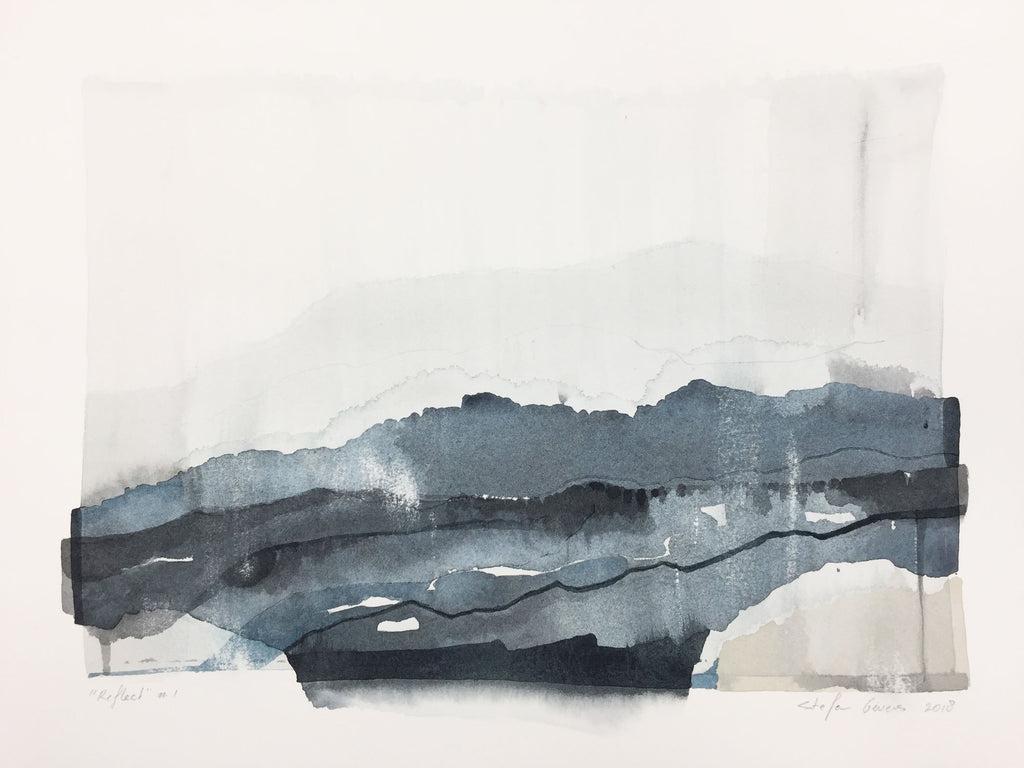 Stefan Gevers - Reflect #1 - Small Watercolour