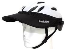 Load image into Gallery viewer, Da Brim Rezzo helmet visor in black. Angled front view.