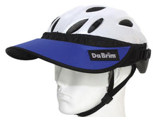 Load image into Gallery viewer, Da Brim Rezzo helmet visor in blue. Angled front view.