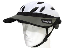 Load image into Gallery viewer, Da Brim Rezzo helmet visor in gray. Angled front view.