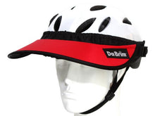 Load image into Gallery viewer, Da Brim Rezzo helmet visor in red. Angled front view.