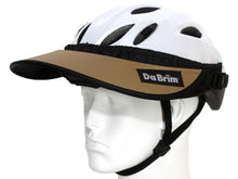 Load image into Gallery viewer, Da Brim Rezzo helmet visor in tan. Angled front view.