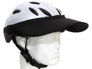 Da Brim Rezzo helmet visor in black. Angled right front view.