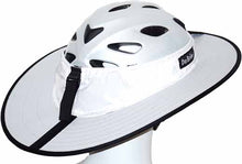 Load image into Gallery viewer, Da Brim Cycling Classic Helmet Visor Brim in White. View from right rear