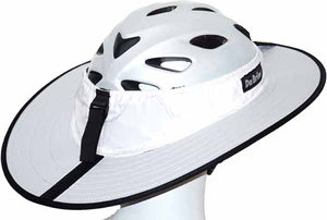 Da Brim Cycling Classic Helmet Visor Brim in White. View from right rear