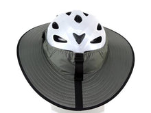 Load image into Gallery viewer, Da Brim Cycling Classic helmet visor brim in gray. Back view.
