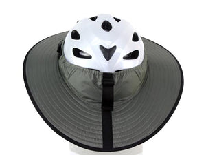 Da Brim Cycling Classic helmet visor brim in gray. Back view.