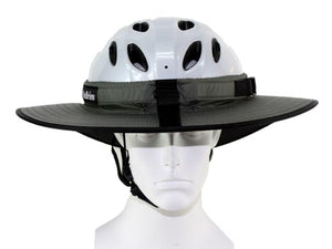 Da Brim cycling classic helmet visor brim in gray. Front view.