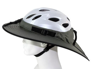 Da Brim Cycling Classic helmet visor brim in gray. Left side view