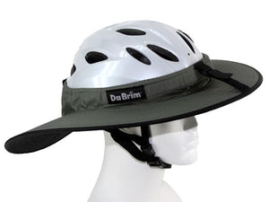 Da Brim Cycling Classic helmet visor brim in gray. Right side view.