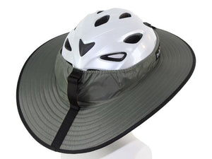 Da Brim Cycling Classic Helmet Visor Brim in gray. Right rear view.