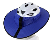 Load image into Gallery viewer, Da Brim Cycling Classic Helmet Visor Brim in Blue. Back View.