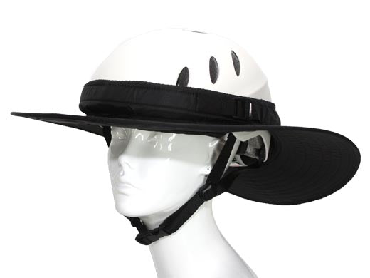 Da Brim Equestrian Endurance Helmet Brim Visor in Black. Front right angle view.