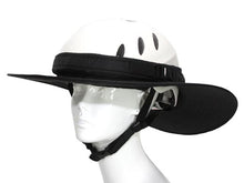 Load image into Gallery viewer, Da Brim Equestrian Endurance Helmet Brim Visor in Black. Front right angle view.