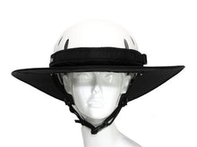 Load image into Gallery viewer, Da Brim Equestrian Endurance helmet brim visor in black. Front view.