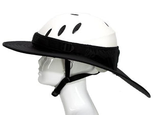 Da Brim equestrian endurance helmet brim visor in black. Left side view.