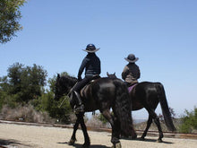 Load image into Gallery viewer, Two riders out for a walk on their horses. Both are wearing Da Brim helmet brim visors.