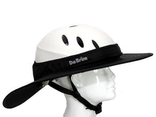 Load image into Gallery viewer, Da Brim Equestrian Endurance helmet brim visor in black. Right side view.