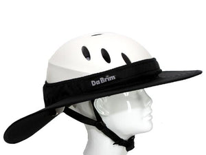 Da Brim Equestrian Endurance helmet brim visor in black. Right side view.