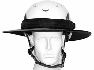 Da Brim PRO Tech Construction Helmet Visor Brim in gray. Front view.