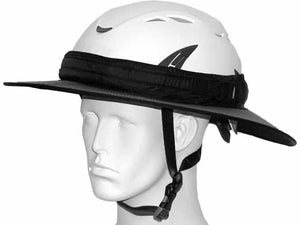 Da Brim PRO Tech Construction Helmet Visor Brim in gray. Front angle view.