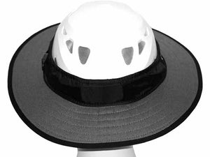 Da Brim PRO Tech Construction Helmet Visor Brim in gray. Rear view.