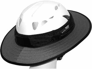 Da Brim PRO Tech Construction Helmet Visor Brim in gray. Right rear angle view.