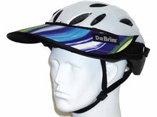 Load image into Gallery viewer, Da Brim Rezzo helmet visor in ocean. Angled front view.