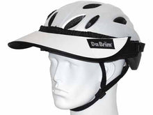 Load image into Gallery viewer, Da Brim Rezzo helmet visor in white. Angled front view.