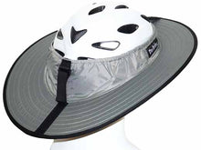 Load image into Gallery viewer, Da Brim Sporty Cycling Helmet Visor Brim in gray. Rear angled view.