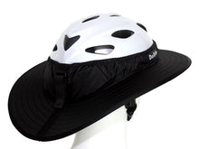 Load image into Gallery viewer, Da Brim Sporty Cycling Helmet Visor Brim in black. Rear angled view.