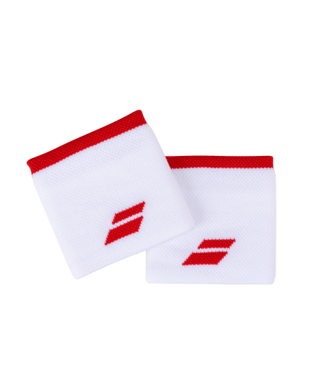 Logo Wristband White Tomato Red
