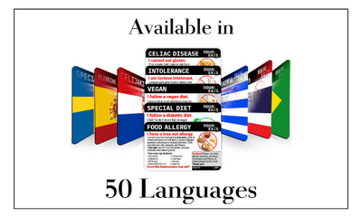 Dietary Cards Now Available in 50 Languages!