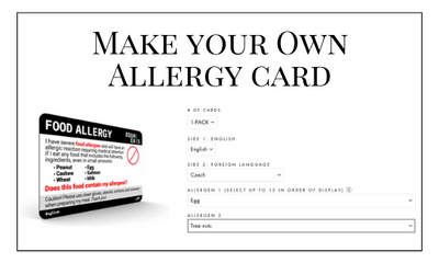 Make Your Own Allergy Card