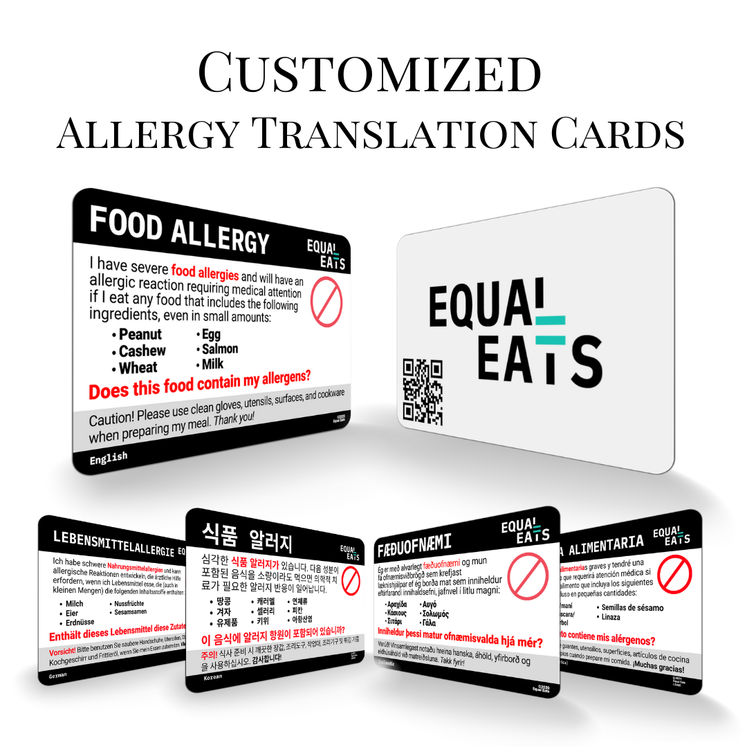 Make your own free allergy card. Allergy Travel Card create