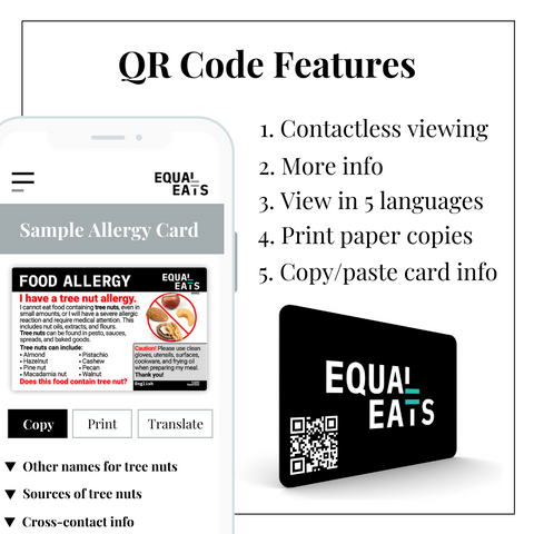 Equal Eats Allergy Cards QR