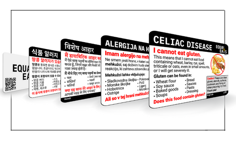 Allergy Wallet Cards