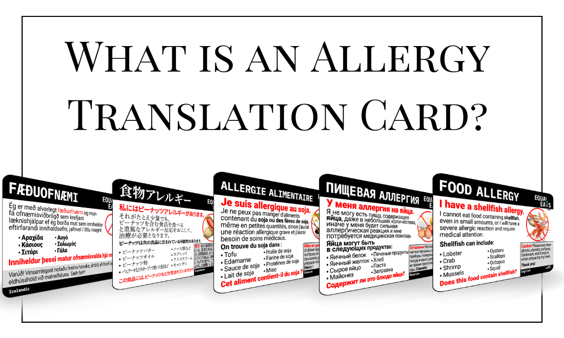 Allergy Translation Cards Free and Paid