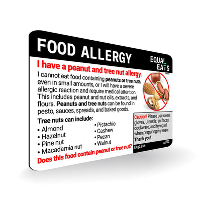 Peanut and Tree Nut Allergy Card Equal Eats