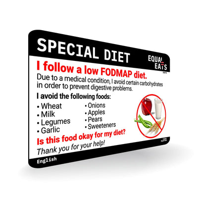 Low FODMAP diet card by Equal Eats