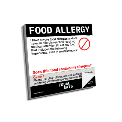 Blank Food Allergy Sticky Notes by Equal Eats