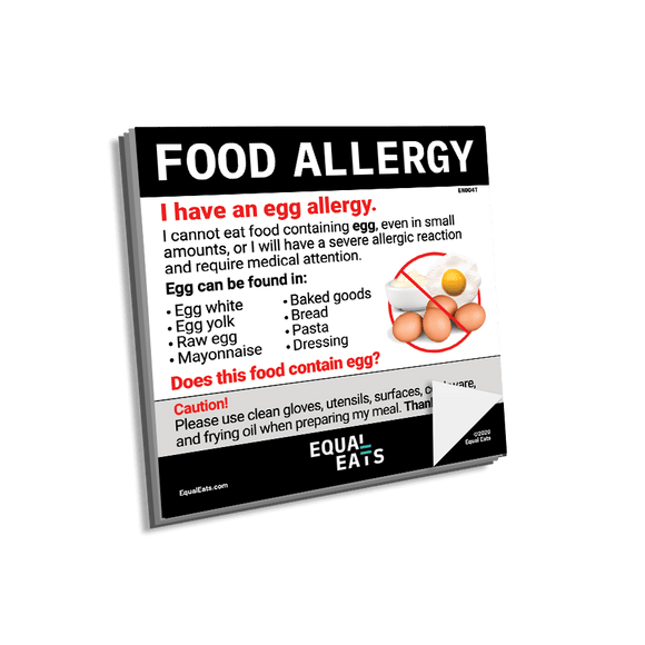 Egg Allergy Sticky Notes
