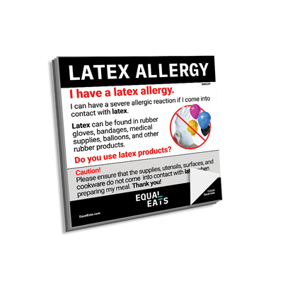 Latex Allergy Sticky Note. Latex Allergy Awareness. Equal Eats