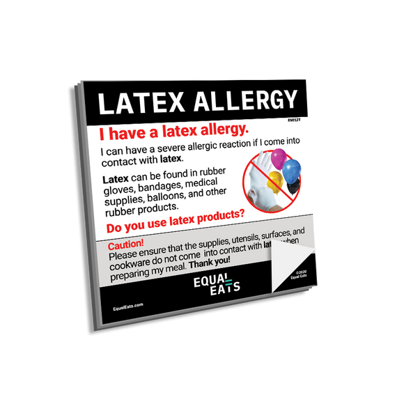 Latex Allergy Sticky Notes