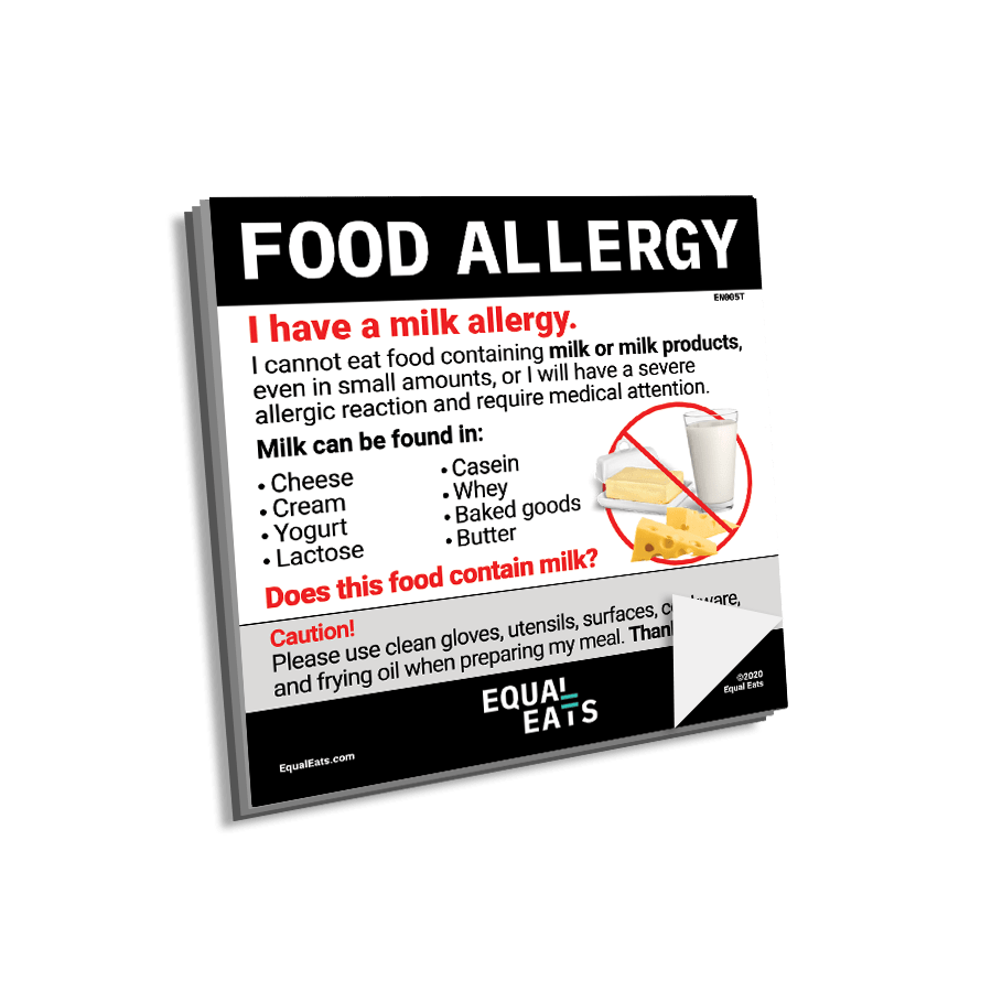 Milk Allergy Sticky Notes