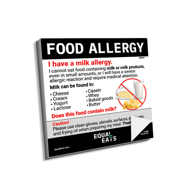 Milk Allergy Sticky Note. Dairy Allergy Post it Notes