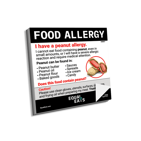 Peanut Allergy Sticky Notes